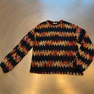 ZARA Aztec Tribal Print Pattern Sweater